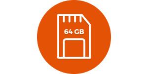 64 GB místa po ruce